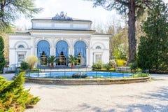 19世纪末意大利温泉中心 免版税库存图片