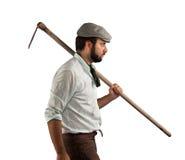19世纪末的农夫 免版税库存图片