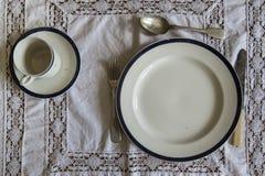 18世纪桌商品餐位餐具 库存图片