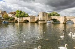 15世纪桥梁,圣Ives 图库摄影