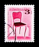 19世纪椅子,古色古香的Furnitureserie,大约2000年 库存图片