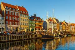 17世纪江边Nyhavn在哥本哈根 免版税库存照片
