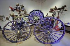 消防在由纽约火博物馆的纽约 免版税库存照片