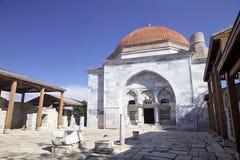 14世纪清真寺的砖圆顶, Milet, Turkay 免版税图库摄影