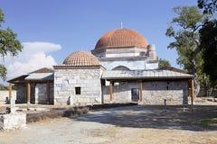 14世纪清真寺的砖圆顶, Milet, Turkay 免版税库存图片
