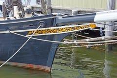 19世纪渔大篷车船首斜桅  免版税库存图片