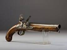 18世纪燧发枪手枪。 库存照片