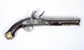 18世纪燧发枪手枪 库存图片
