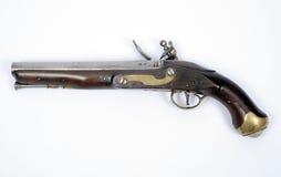 18世纪燧发枪手枪 图库摄影