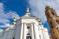 19世纪的上帝的母亲的Theodorovskaya象的教会在Uglich,俄罗斯 免版税库存照片