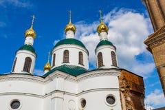 19世纪的上帝的母亲的Theodorovskaya象的教会在Uglich,俄罗斯 免版税图库摄影