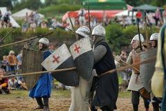 13世纪的中世纪争斗 图库摄影