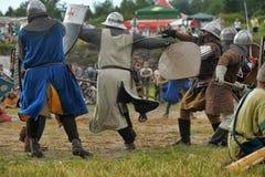 13世纪的中世纪争斗 免版税图库摄影