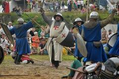 13世纪的中世纪争斗 免版税库存图片