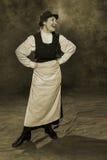 19世纪的俄国妇女管理员 免版税库存照片