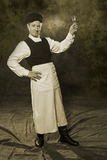 19世纪的俄国管理员 免版税图库摄影