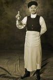 19世纪的俄国管理员 免版税库存照片