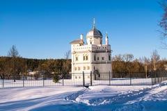 17世纪的偏僻寺院在新耶路撒冷修道院旁边的族长尼康 Istra,莫斯科郊区,俄罗斯 免版税库存照片