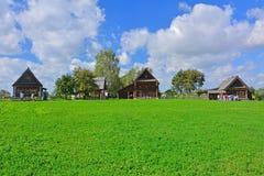 19世纪的农民议院在木建筑学博物馆在苏兹达尔,俄罗斯 库存图片