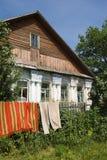 19世纪的古老农村房子 免版税库存图片