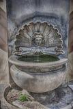 19世纪的古老喷泉,从卡塞尔塔村庄, Ital 免版税图库摄影