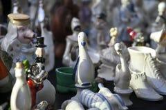 19世纪的古董在一个跳蚤市场上的待售在第比利斯 库存照片