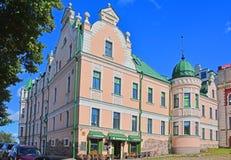 18世纪的商人约翰Vekrut的议院在维堡,俄罗斯 免版税库存图片