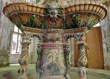 从19世纪的喷泉的细节- Baile Herculane -罗马尼亚 库存照片