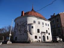 16世纪的圆的塔 库存图片