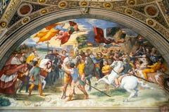 16世纪的壁画在梵蒂冈博物馆 免版税图库摄影