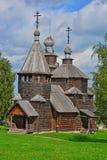 19世纪的复活的教会在木建筑学博物馆在苏兹达尔,俄罗斯 库存照片