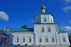 18世纪的复活的教会在Klin市 图库摄影
