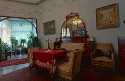 19世纪的客厅 免版税库存图片