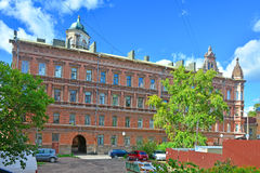 19世纪的客商Buttenhoff前议院在维堡,俄罗斯 免版税图库摄影