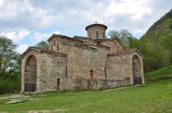 10世纪的寺庙在Arkhyz 免版税图库摄影