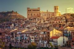12世纪的巴尔德罗夫雷斯中世纪村庄, Matarrana dis 库存图片