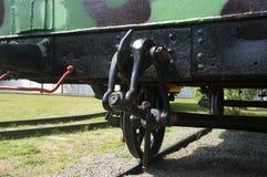 19世纪的拖曳栓铁路平台 免版税库存图片