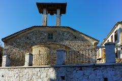 19世纪的教会在克桑西、东部马其顿和色雷斯老镇  图库摄影