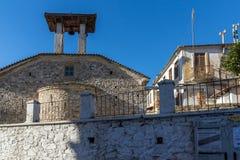 19世纪的教会在克桑西,希腊老镇  库存图片