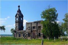 19世纪的木教会 免版税库存照片