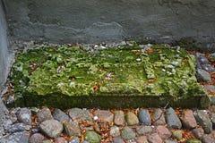 16世纪的未知的墓碑在Prutnya村庄在Torzhok区 免版税库存图片