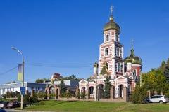 18世纪的正统寺庙在哈尔科夫 图库摄影