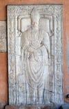 15世纪的殡葬纪念碑,圣劳伦斯教会门廓Lucina的,罗马 库存图片