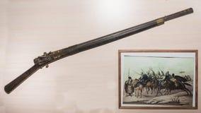 18世纪的火石枪 免版税库存照片