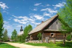 18世纪的白俄罗斯村庄 库存图片