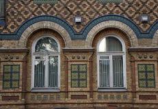 19世纪的砖瓦房 免版税图库摄影
