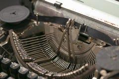 19世纪的老机械打字机 免版税库存照片