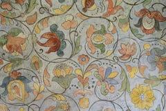 17世纪的花饰在圣徒红色的蓬蒿大教堂里 库存照片
