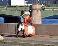 18世纪的衣裳的人们 库存图片