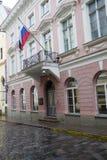 18世纪的豪宅在老城市,塔林 现在找出俄罗斯的使馆 库存照片